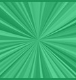 green explosion background from radial stripes vector image vector image