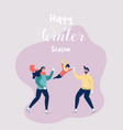happy family gesturing with cheerful smile vector image
