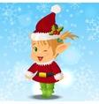Happy Smiling Boy Christmas Santa s Elf vector image vector image