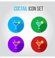 Icon set of fresh coctails with lime and orange vector image vector image