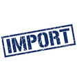 import stamp vector image vector image
