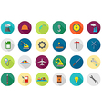 Industry round icons set vector image vector image