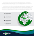 Infographics design template with modern globe vector image vector image