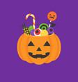 jack o lantern bowl of halloween vector image