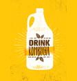 kombucha tea brewery natural healthy soft drink vector image vector image