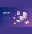 landing page for investment solutions vector image