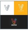 Letter V logo alphabet design icon background vector image vector image