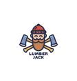 lumberjack logo vector image