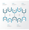 music outline icons set collection of soundtrack vector image vector image