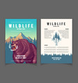 national park nature attractions booklet vector image