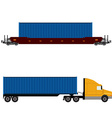 Network logistics vector image vector image