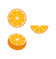 orange fruit orange color isolated on white vector image