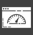 page speed glyph icon seo and development vector image vector image