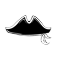 Pirate hat isolated on white vector image