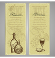 Premium food and drink menu vector image vector image