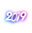 purple spectrum 2019 new year festive background vector image vector image