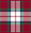 red green and blue tartan plaid seamless pattern vector image vector image
