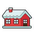 santas north pole home christmas character icon vector image