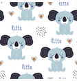 seamless pattern with cute koala vector image
