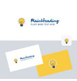 seo bulb logotype with business card template vector image vector image
