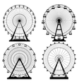 set Ferris wheel Carnival vector image