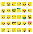 Set of cute smiley emoticons vector image