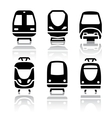 set transport icons - train and tram vector image