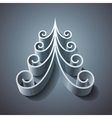 Shining silver 3d christmas tree vector image vector image