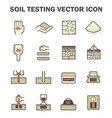 soil test icon vector image vector image