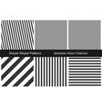 Striped patterns Seamless collection vector image vector image