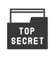 top secret file and folder police related icon vector image