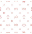 wash icons pattern seamless white background vector image vector image