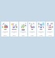 website and mobile app onboarding screens vector image