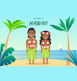 welcome to hawaii poster vector image