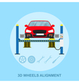 wheels alignment vector image vector image