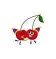 winter fruit cherries hugging vector image vector image