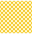 yellow and white argyle tablecloth seamless patter vector image vector image