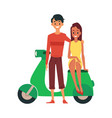 young couple a man and a woman are standing and vector image