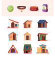 zoo market domestic animals accessories toys vector image