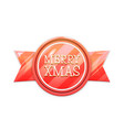 merry xmas christmas banner badge isolated on vector image