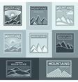 Mountains logo travel vector image