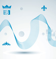 3d decorative background with curved transparent vector image