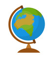 globe icon flat cartoon style isolated on white vector image