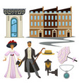 1900s symbols man and woman retro fashion style vector image vector image