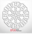 3d white geometric snowflake arabesque design vector image vector image