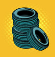 a stack of car tires vector image