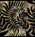 abstract gold baroque seamless pattern vector image