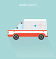 ambulance car emergency medical service vector image vector image