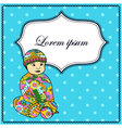 Background-with-baby-boy-colorful vector image vector image