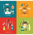Barber Service Flat vector image vector image